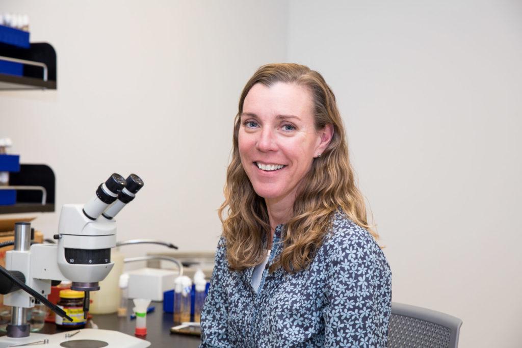 Amanda Norvell, TCNJ's resident immunology expert.